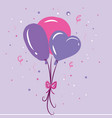 three balloons with an exclamation mark of vector image vector image