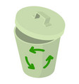trash bin icon isometric style vector image