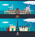 travel to germany and france europe poster vector image