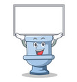 up board toilet character cartoon style vector image vector image