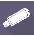Usb flash drivo web icon vector image vector image