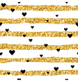 Valentines Day Golden Heart Pattern vector image vector image