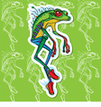 Walking sports frog vector image vector image