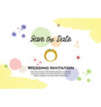 watercolor wedding invitation vector image vector image