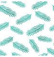 winter seamless pattern with pine tree baranhes vector image