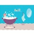 Woman in bath vector image vector image