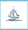 yacht club badge vector image vector image