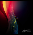 Abstract background with shiny wave and bokeh vector image