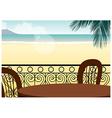 seaside cafe background vector image