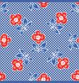 1950s style retro daisy polka dot seamless vector image vector image