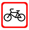 A bicycle icon on a white background