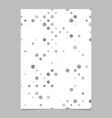 abstract dot pattern background poster template vector image vector image