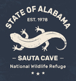 alabama t shirt with salamander vector image vector image