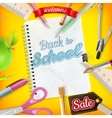 Back to School marketing background EPS 10 vector image vector image