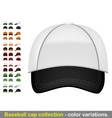 baseball cap mega collection vector image
