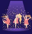 body positive girl danse vector image
