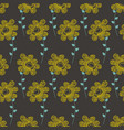 bright floral seamless pattern over dark vector image vector image