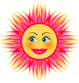 bright smiling sun vector image