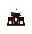 castle icon design template isolated vector image vector image