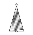 christmas tree graphic art design new year fir vector image vector image