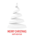 Christmas tree made of folded paper origami 10 vector image vector image