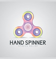 colorful hand spinner fidget toy vector image