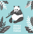 cute panda bear birthday greeting card vector image vector image
