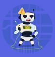 cute robot error connection problem modern vector image