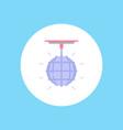 disco ball icon sign symbol vector image vector image