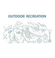 Doodle style design concept of outdoor recreation vector image vector image