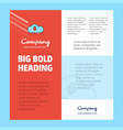 downloading business company poster template with vector image vector image