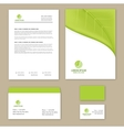 Eco green leaf logo template vector image vector image
