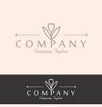 feminineflower logo collections template vector image vector image
