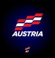flag austria dynamic culture celebration icon vector image