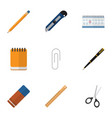 flat icon equipment set of clippers knife vector image vector image