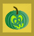 flat shading style icon halloween pumpkin emotions vector image vector image