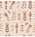 Floral seamless pattern in cartoon style vector image vector image