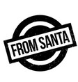from santa rubber stamp vector image vector image