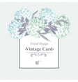 Gentle Blue Vintage Floral Greeting Card vector image vector image