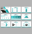 green abstract presentation templates vector image vector image