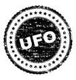 grunge textured ufo stamp seal vector image