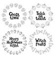 halloween frames handdrawn lettering phrase vector image vector image