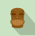 hawaii wooden idol icon flat style vector image vector image