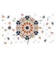 hexagonal geometric decor with random tile edges vector image