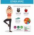 infographic fitness sport athletic vector image
