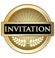 Invitation Gold Label vector image vector image