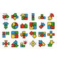 jigsaw icons flat vector image vector image