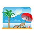 landscape palm tree on beach vector image
