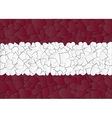 Latvia Austria Flag maden with doodle hearts a vector image