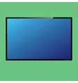 LCD or LED tv screen vector image